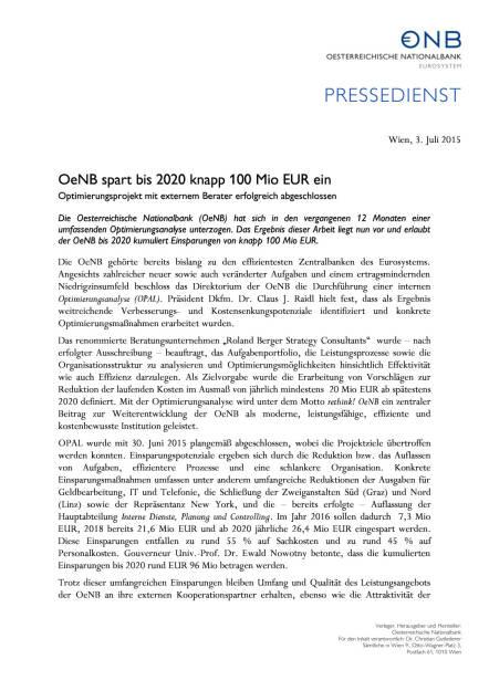 OeNB spart 100 Mio. ein, Seite 1/2, komplettes Dokument unter http://boerse-social.com/static/uploads/file_199_oenb_spart_100_mio_ein.pdf (03.07.2015)