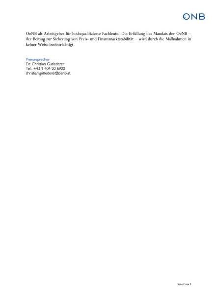 OeNB spart 100 Mio. ein, Seite 2/2, komplettes Dokument unter http://boerse-social.com/static/uploads/file_199_oenb_spart_100_mio_ein.pdf (03.07.2015)