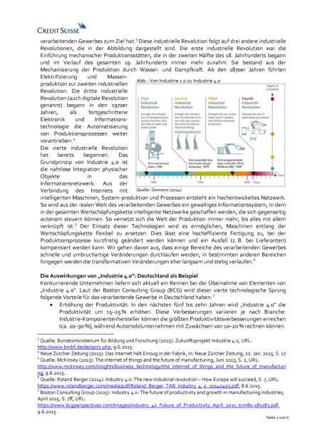 Industrie 4.0: Gibt es Herausforderungen im Bereich Sicherheit?, Seite 2/6, komplettes Dokument unter http://boerse-social.com/static/uploads/file_201_industrie_40_credit_suisse.pdf (03.07.2015)