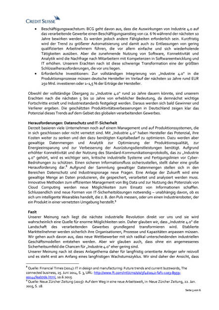 Industrie 4.0: Gibt es Herausforderungen im Bereich Sicherheit?, Seite 3/6, komplettes Dokument unter http://boerse-social.com/static/uploads/file_201_industrie_40_credit_suisse.pdf (03.07.2015)