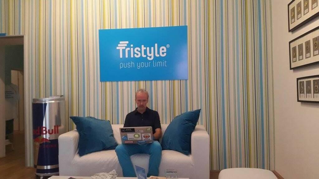 Christian Drastil verfasst eine Laufbotschaft bei Tristyle (08.07.2015)