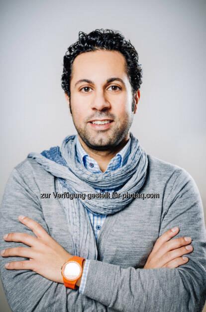 Jubin Honarfar, Co-Gründer und bisher Commercial Director der Video-Job-Plattform whatchado, ist ab sofort neuer CEO des Unternehmens, für das operative Management und für Sales in der Dach-Region zuständig. AignerPR Communication Services KG (C) Whatchado, © Aussender (09.07.2015)
