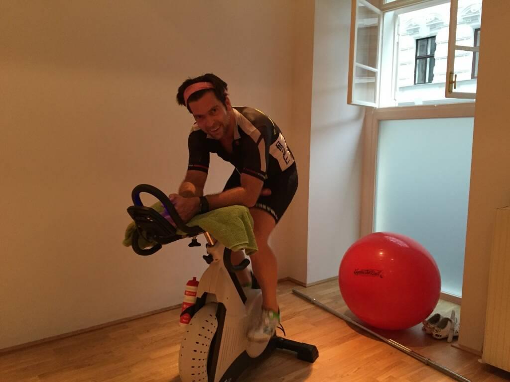 Jochen Gold beim Laktattest (09.07.2015)