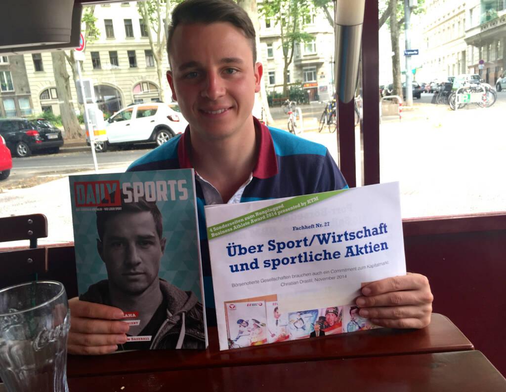 Mit Daily Sports Herausgeber Matthias Stelzmüller beim Orlik (13.07.2015)