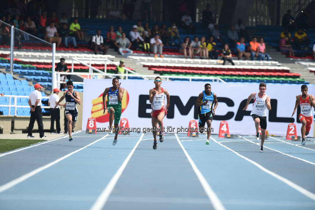 Max Münzker, 100m, Laufbahnen (Bild: ÖLV/Jiro Mochizuki) (17.07.2015)