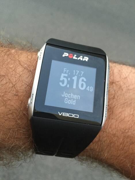 Polar, Uhr, Handgelenk, Uhrzeit, Zeit (17.07.2015)