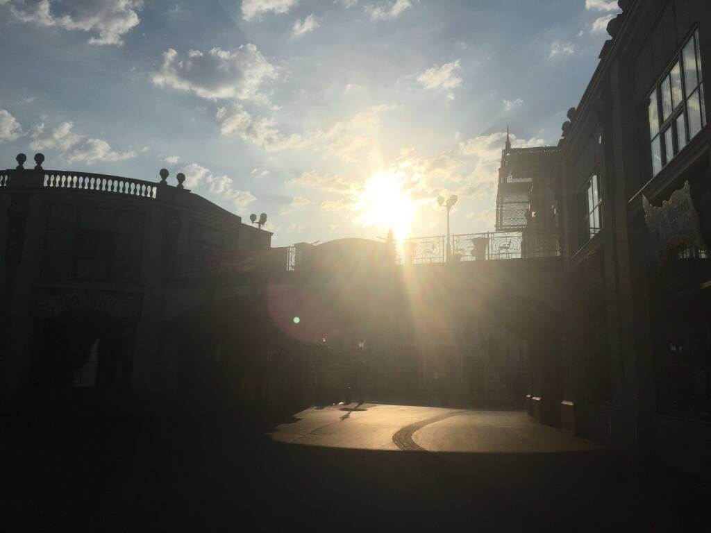 Sonnenaufgang, Wiener Prater (17.07.2015)