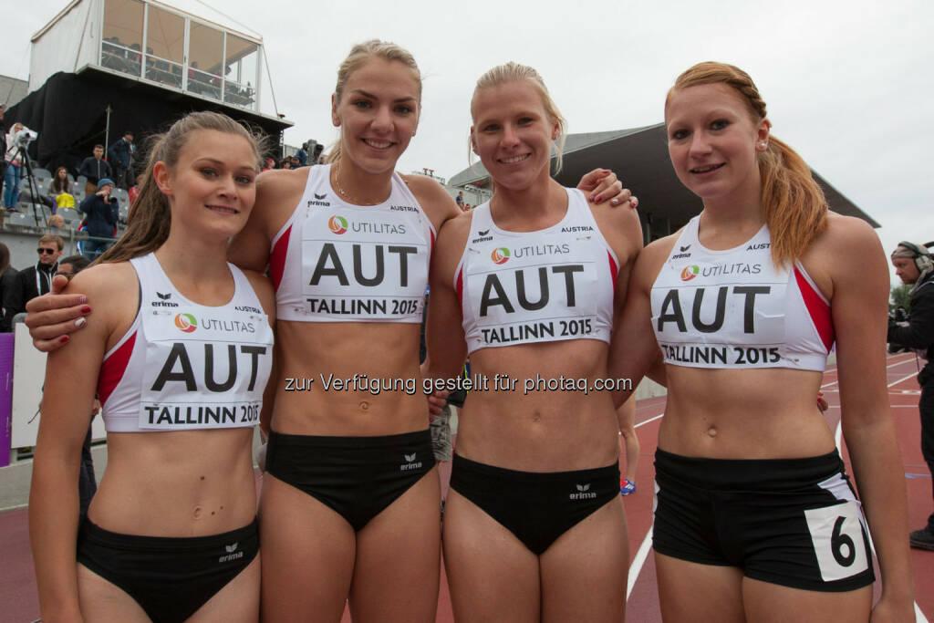 4 x 400m Staffel, Österreich, Austria, Vier (Bild: ÖLV/Coen Schilderman) (21.07.2015)
