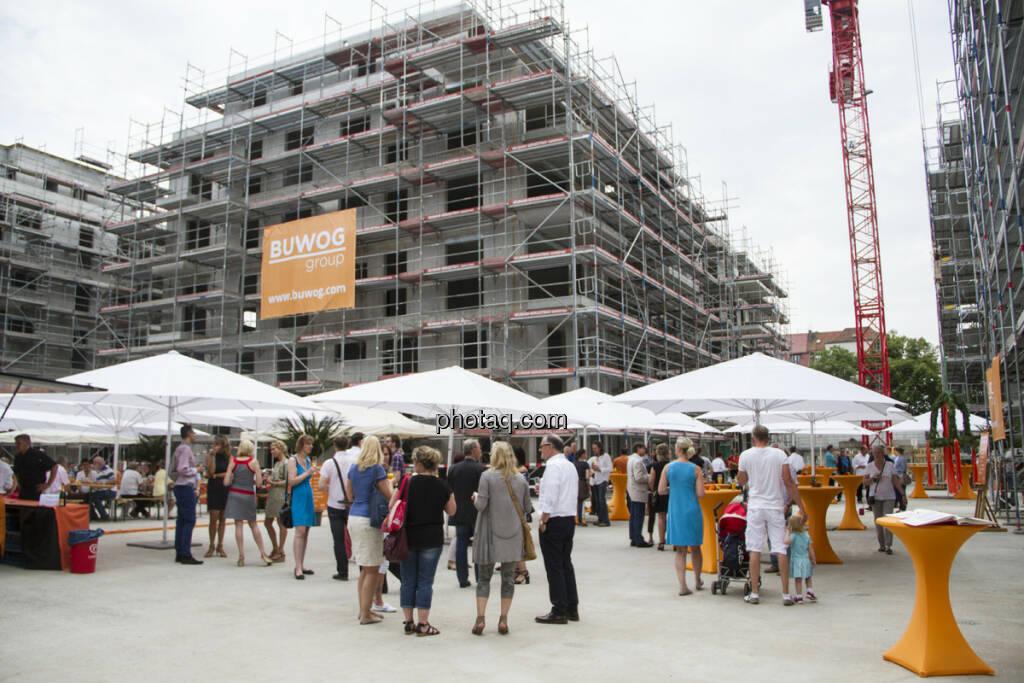 """Buwog Group - Dachgleiche bei Projekt """"Uferkrone"""" in Berlin mit 198 Wohneinheiten auf 19.200 m² : (c) Lustig+Brey PR, Marketing und Sales GmbH , © Aussender (23.07.2015)"""