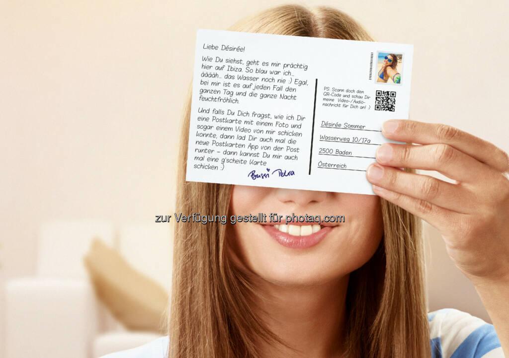 Österreichische Post AG: Post launcht neue Postkarten App : Die Postkarte - einst das beliebteste schriftliche Kommunikationsmittel der Welt - erlebt als neue Postkarten App der Österreichischen Post ein digitales Revival: © Österreichische Post AG , © Aussender (28.07.2015)
