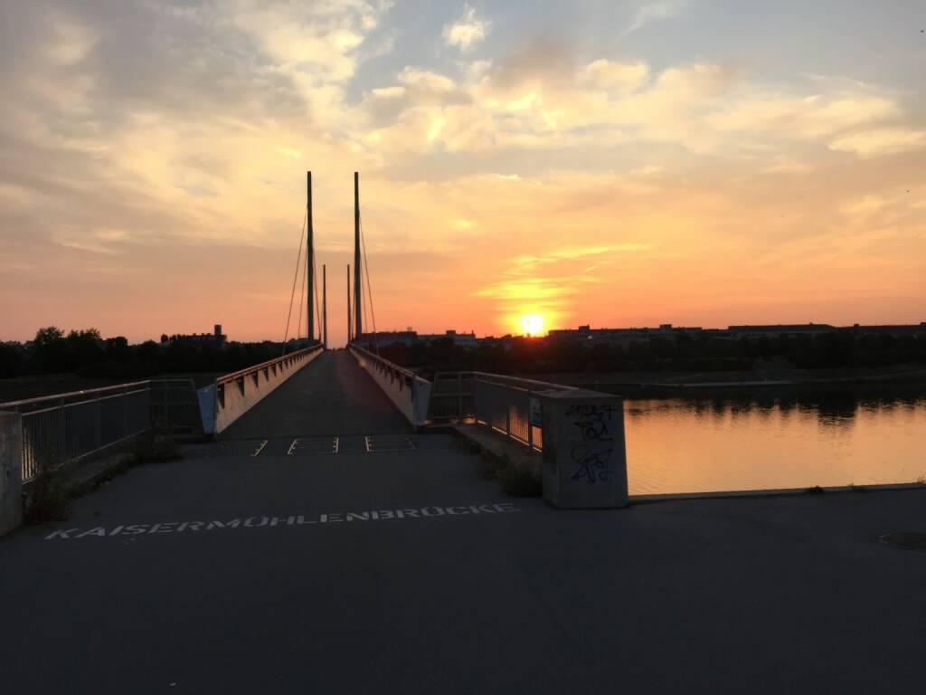 Da ist sie ja - Sonnenaufgang Neue Donau (28.07.2015)