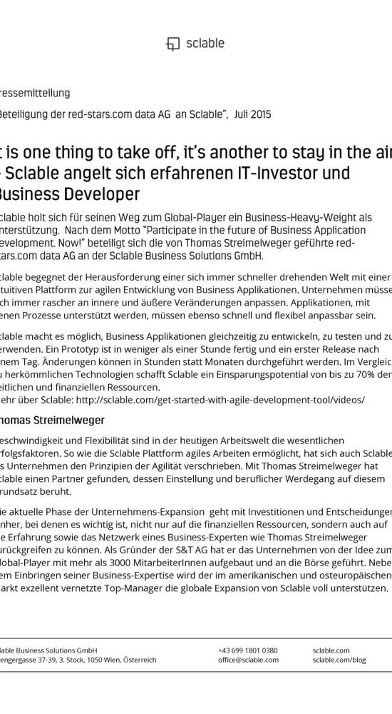 red-stars.com beteiligt sich an Sclable, Seite 1/4
