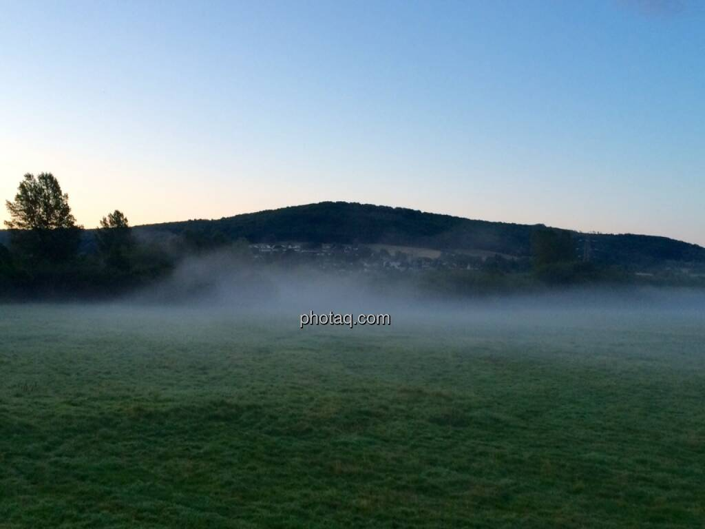 Morgennebel um 5.00 Uhr Früh bei 10 Grad, © Martina Draper (29.07.2015)