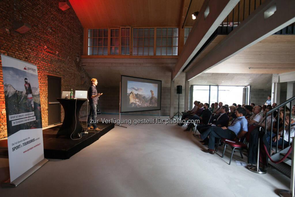 Panzerhalle Salzburg: Gelungene Premiere des 1. Sports & Tourism Summit : Ziel ist die Zusammenführung der beiden Welten aus Sport und Tourismus : Fotograf: Sportalpen Marketing Fotocredit: Sportalpen GmbH, © Aussender (03.08.2015)