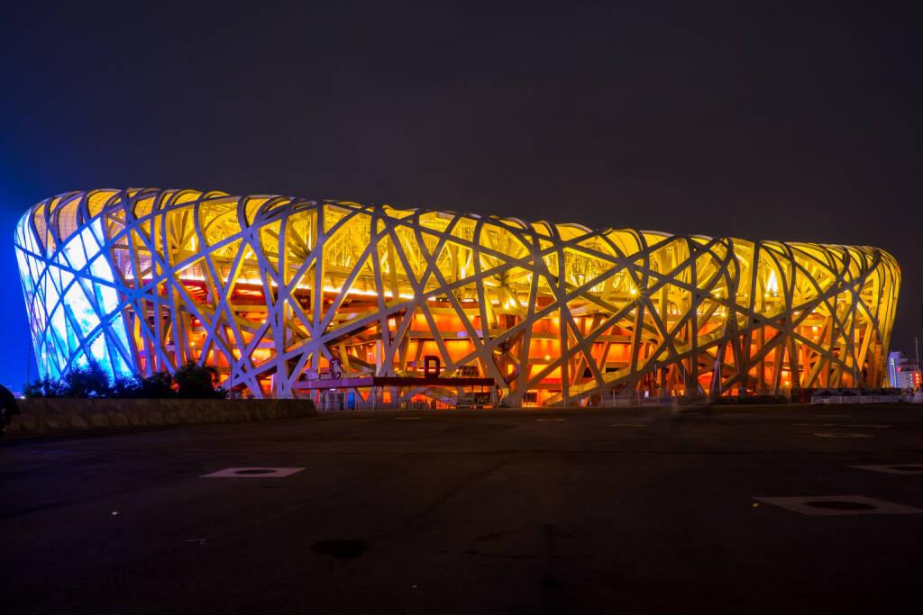 Peking, Beijing National Stadium, Bird's Nest. 2008 Olympische Sommerspiele.<a href=http://www.shutterstock.com/gallery-2953174p1.html?cr=00&pl=edit-00>basiczto</a> / <a href=http://www.shutterstock.com/editorial?cr=00&pl=edit-00>Shutterstock.com</a>, © www.shutterstock.com (10.08.2015)