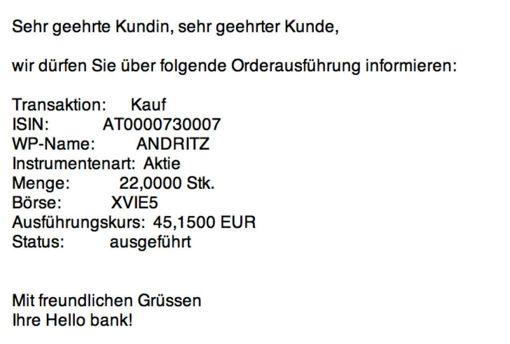 Tag 27: Kauf 22 Andritz zu 45,15 (12.08.2015)