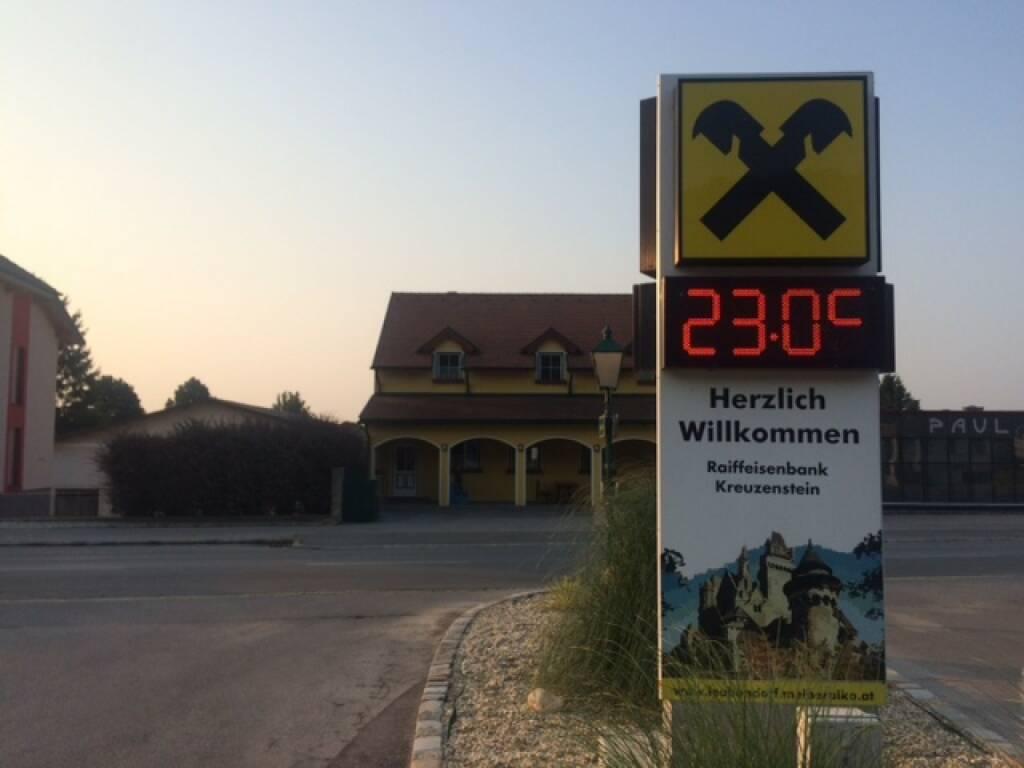 23 Grad, Raiffeisen, © Martina Draper (13.08.2015)