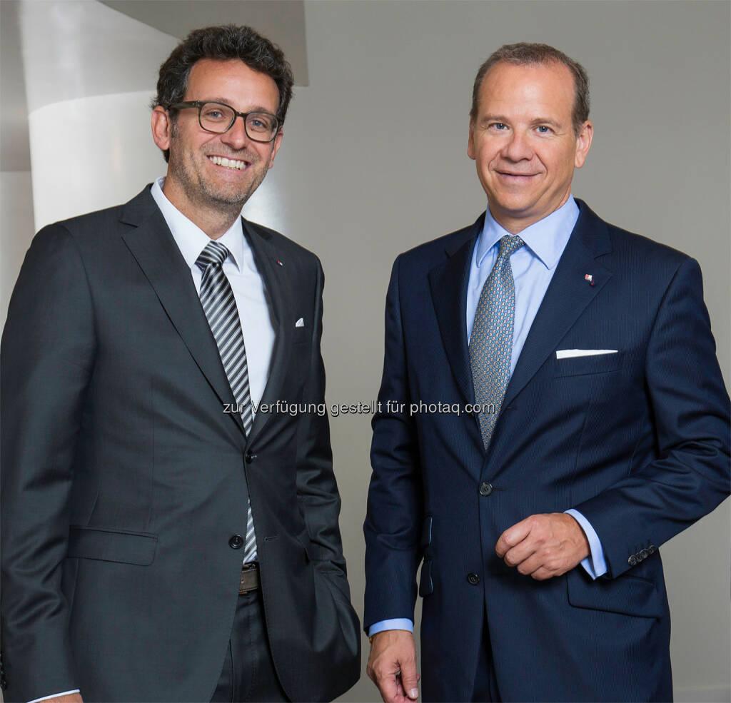 Gerhard Burtscher, Peter Gaugg, Bank für Tirol und Vorarlberg Aktiengesellschaft: Gerhard Burtscher ab nächstem Jahr Vorstandssprecherder BTV, © Raimo Rudi Rumpler , © Aussender (13.08.2015)