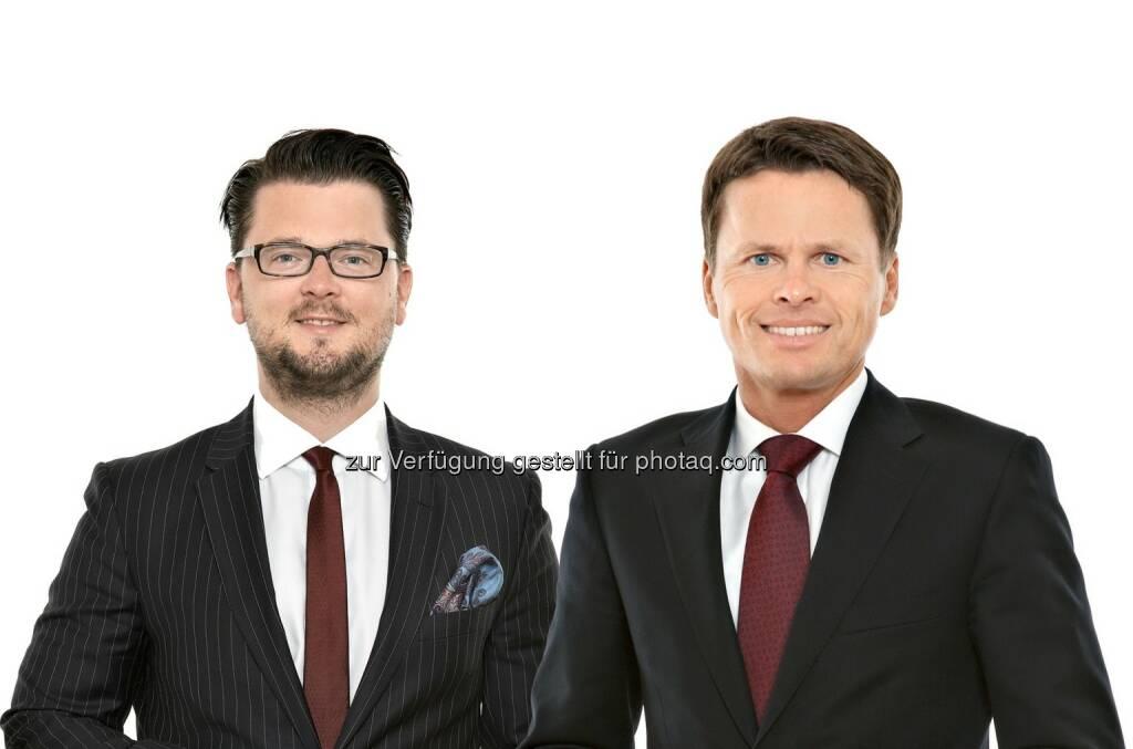 Thomas Kulnigg, Sascha Hödl : Schönherr berät immigon portfolioabbau ag beim Verkauf der VB Leasing Finanzierungsgesellschaft m.b.H. (Österreich) an BAWAG PSK Leasing: Fotocredit: Schönherr, © Aussendung (14.08.2015)