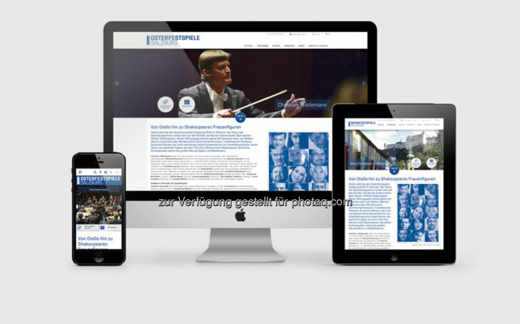 Osterfestspiele Salzburg mit neuer ncm-Webseite : Gleichzeitig zur neuen Intendanz von Peter Ruzicka erhielten die Osterfestspiele Salzburg eine neue Webseite : Fotocredit: ncm, © Aussendung (15.08.2015)