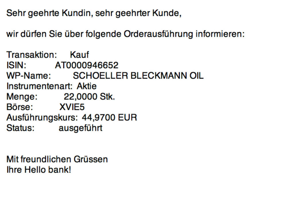 Tag 30: Kauf 22 SBO zu 44,97 (17.08.2015)