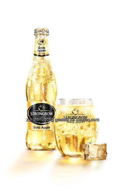 Strongbow Gold Apple : Brau Union Österreich zieht positive Cider-Bilanz : Strongbow bringt frischen Wind in den Getränkemarkt – und in die Umsätze : © Brau Union Österreich, © Aussender (18.08.2015)