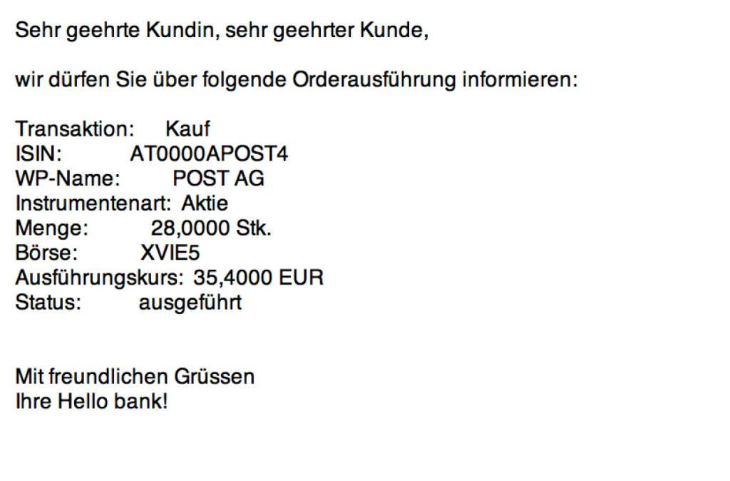 Tag 32a: Kauf 28 Österreichische Post zu 35,40 (19.08.2015)