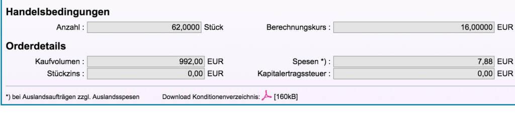 Tag 34b: Kauf 62 Jinko Solar zu 16 Euro (Direkthandel Baader) (21.08.2015)