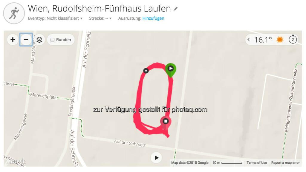 Map vom Laktattest, © Martina Draper (21.08.2015)