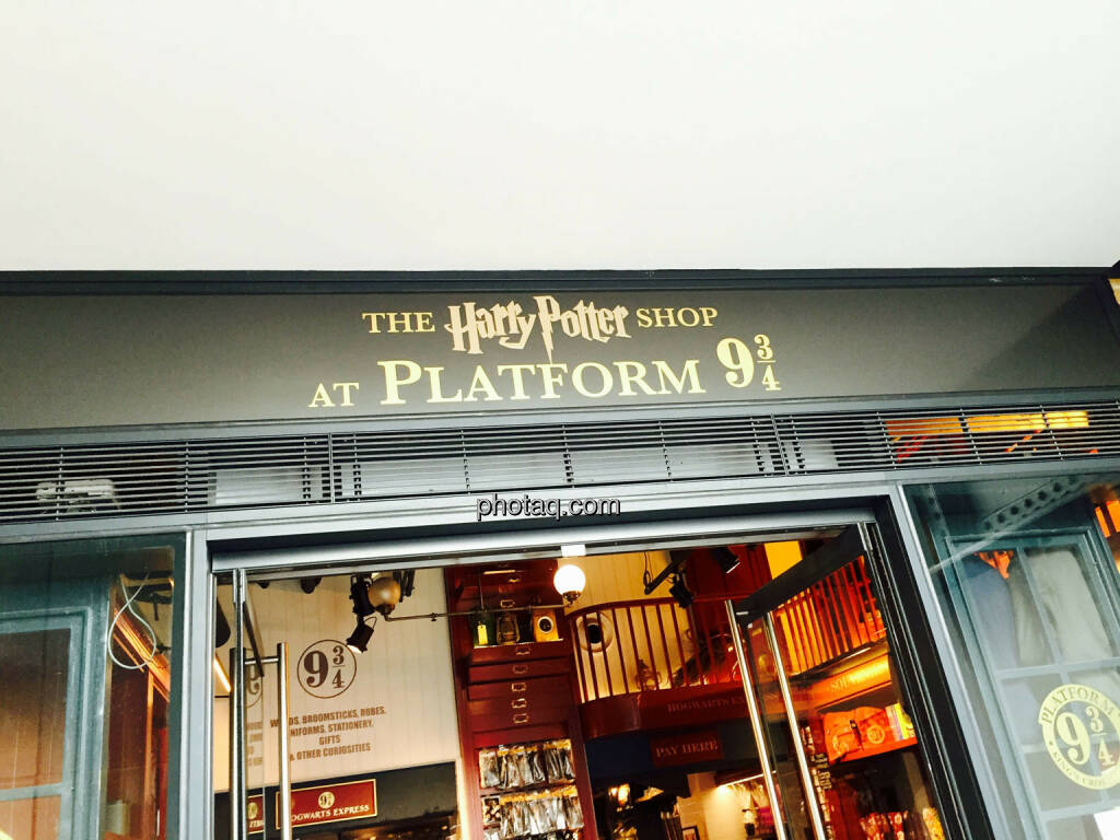 Harry Potter, Plattform 9 3/4, Shop, © photaq.com (21.08.2015)