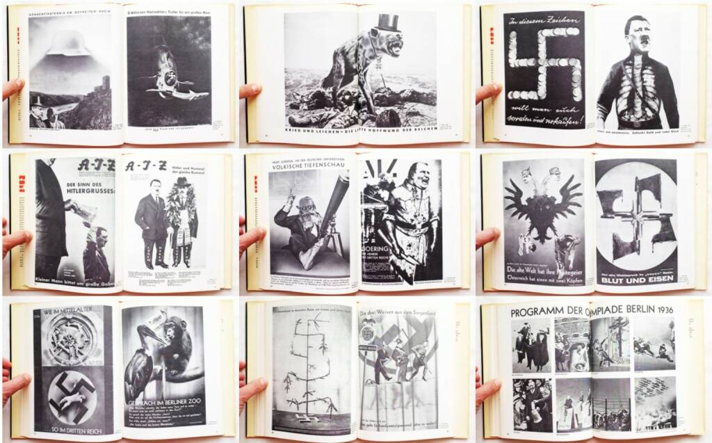John Heartfield - Photomontages of the Nazi period, Universe Books 1977, Beispielseiten, sample spreads - http://josefchladek.com/book/john_heartfield_-_photomontages_of_the_nazi_period, © (c) josefchladek.com (24.08.2015)