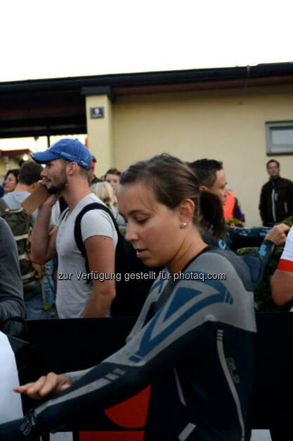 Martina Kaltenreiner, 06:45 Uhr Start der Damenwelle, IM 70.3 Zell am See (03.09.2015)