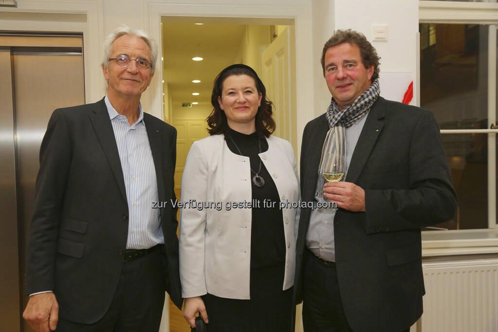 Walter Weihs (Software AG Österreich), Andrea Weber (Raiffeisen Zentralbank Österreich), Wilfried Sihn (Fraunhofer Austria), © Melzer PR Group (20.03.2013)