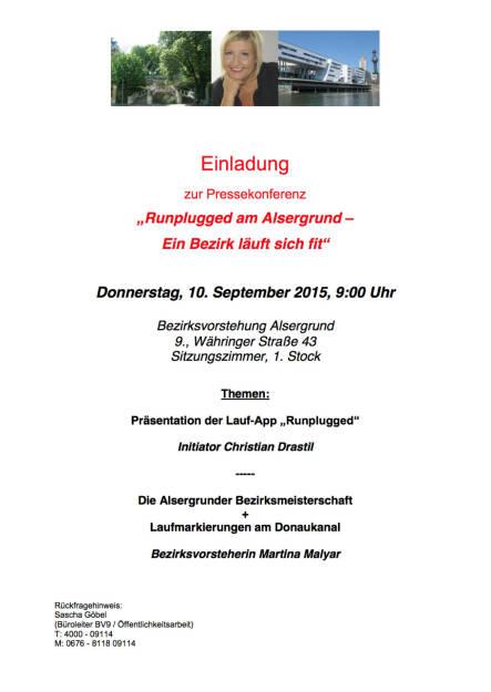 Pressekonferenz BV Alsergrund + Runplugged (07.09.2015)