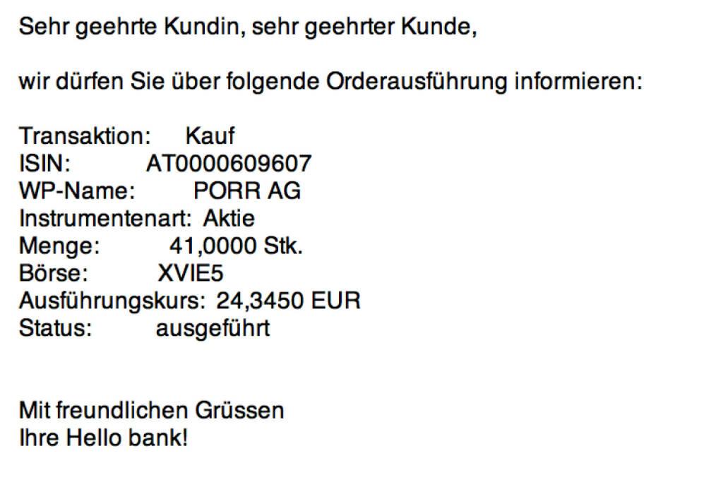 Tag 50: 41 Porr zu 24,345 Euro  (14.09.2015)