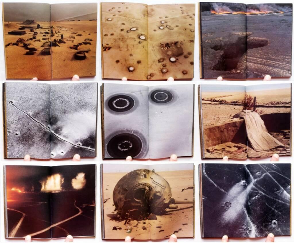 Sophie Ristelhueber - Aftermath: Kuwait, 1991, Thames and Hudson 1992, Beispielseiten, sample spreads - http://josefchladek.com/book/sophie_ristelhueber_-_aftermath_kuwait_1991, © (c) josefchladek.com (17.09.2015)