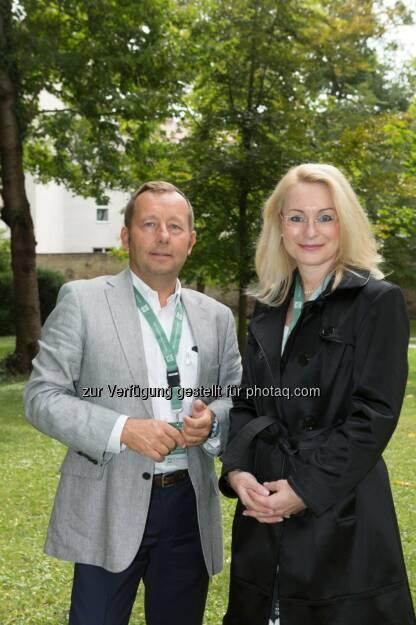 Hermann Klein und Karin Assem-Honsik, Geschäftsführung IG Immobilien : 25 Jahre IG Immobilien Unternehmensgruppe : Fotocredit: IG Immobilien/ Stephan Huger, © Aussender (17.09.2015)