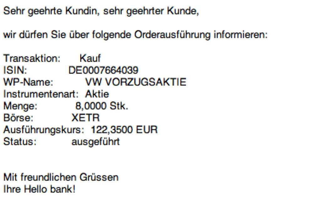 Tag 56: Kauf 8 VW zu 122,35 (22.09.2015)