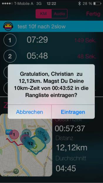 Runplugged trägt die schnellsten Teilbereiche ein (27.09.2015)