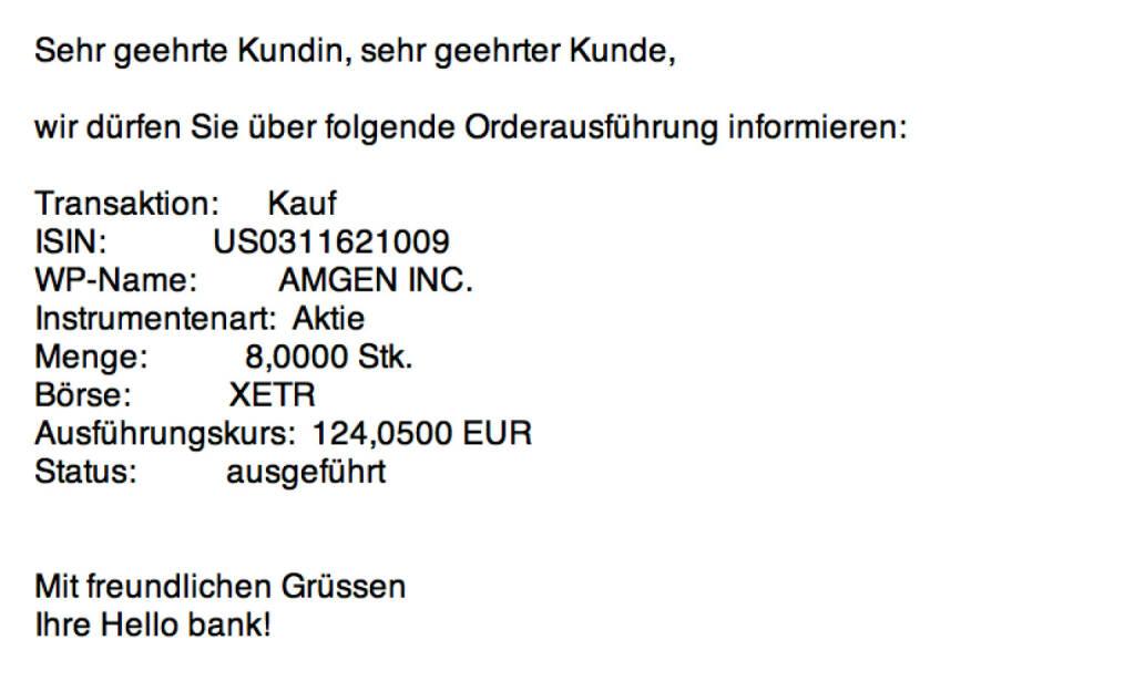 Tag 60: Kauf 8 Amgen zu 124,05 Euro (28.09.2015)