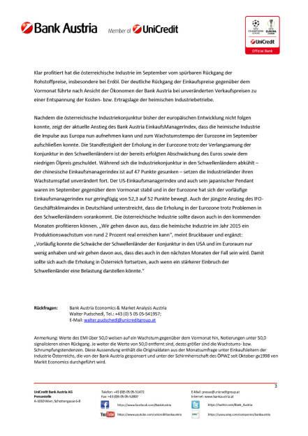 Bank Austria EinkaufsManagerIndex im September, Seite 3/3, komplettes Dokument unter http://boerse-social.com/static/uploads/file_391_bank_austria_einkaufsmanagerindex_im_september.pdf (29.09.2015)