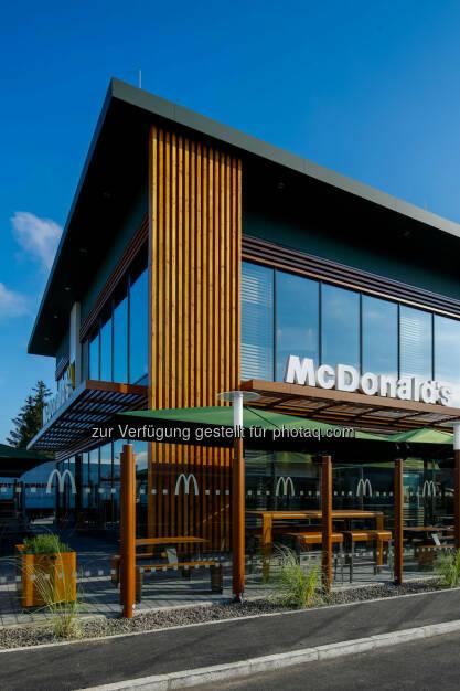 McDonald's St. Pölten : McDonald's Österreich eröffnet mit 1. Oktober sein modernstes und schönstes Restaurant in St. Pölten : Fotocredit: McDonald's Österreich, © Aussendung (30.09.2015)