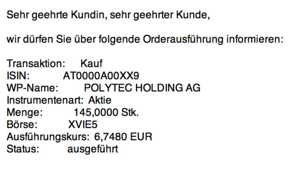 Tag 63: Kauf 145 Polytec zu 6,748 (01.10.2015)