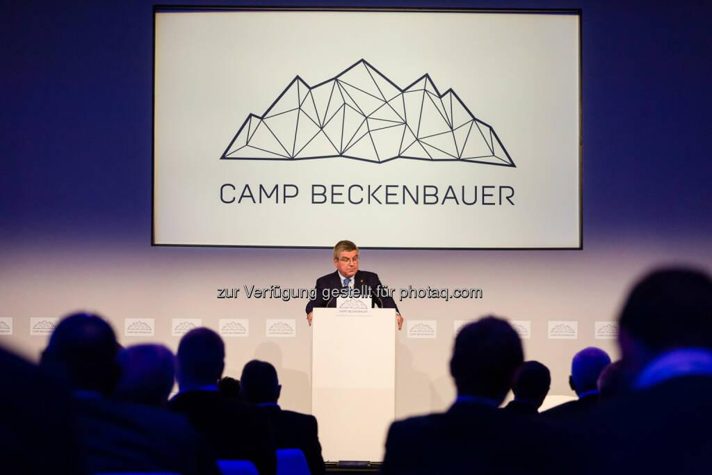 Thomas Bach (IOC-Präsident) : 250 Gäste aus 20 Ländern nahmen am diesjährigen Camp Beckenbauer Global Summit in Kitzbühel teil, der am Montag mit einer Keynote des IOC-Präsidenten Thomas Bach eröffnet wurde : Fotocredit: Camp Beckenbauer, © Aussendung (08.10.2015)