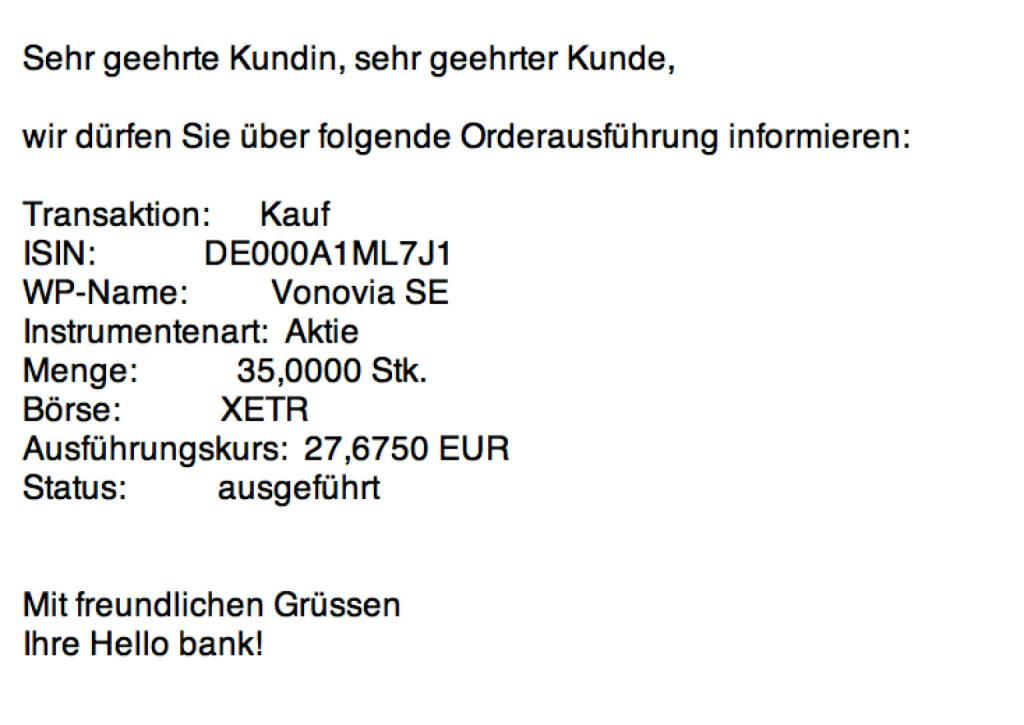 Tag 72: Kauf 35 Vonovia zu 27,675 Euro (14.10.2015)
