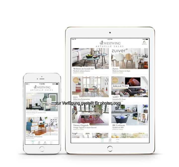 westwing launcht neue app f r ipad und iphone und macht es so noch bequemer wohnideen zu hause. Black Bedroom Furniture Sets. Home Design Ideas