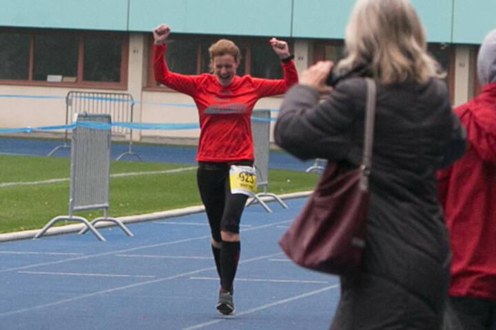 Zieleinlauf, LCC Herbstmarathon 2015