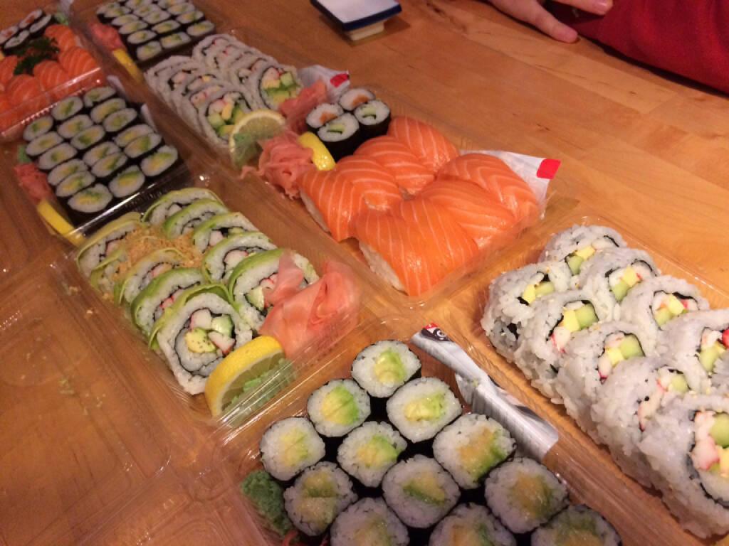 Sushi, höchst verdient, © Martina Draper (19.10.2015)