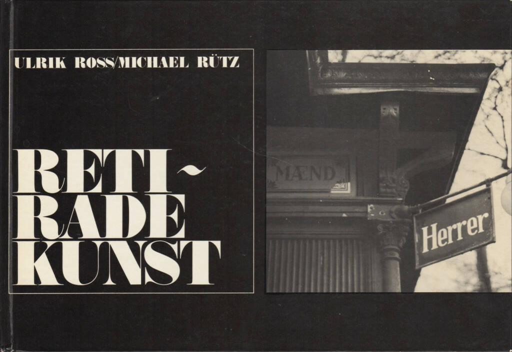 Ulrik Ross & Michael Rütz - Retiradekunst, Chr. Erichsens Forlag 1968, Cover - http://josefchladek.com/book/ulrik_ross_michael_rutz_-_retiradekunst, © (c) josefchladek.com (21.10.2015)