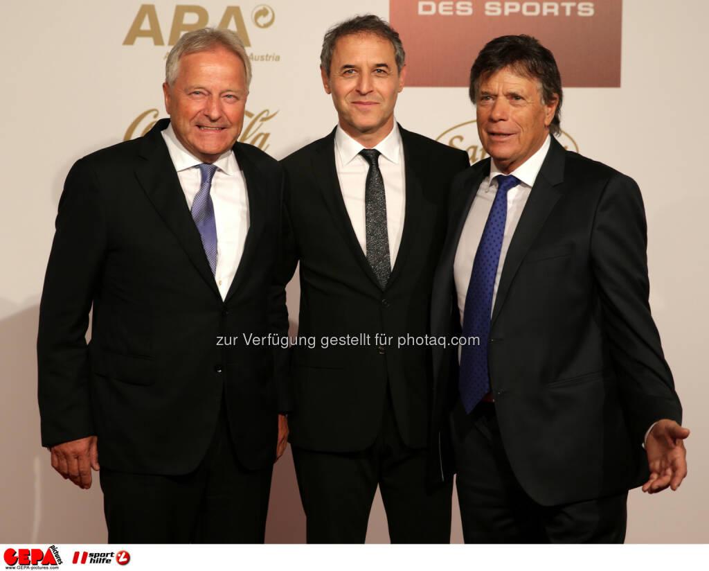 Leo Windtner, Marcel Koller, Peter Schröcksnadel : Photo: GEPA pictures/ Walter Luger (30.10.2015)